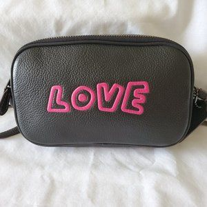 Coach Love Black Leather Crossbody Special Edition